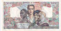 France 5000 Francs Empire Français - 07-06-1945 Série L.683 - TTB