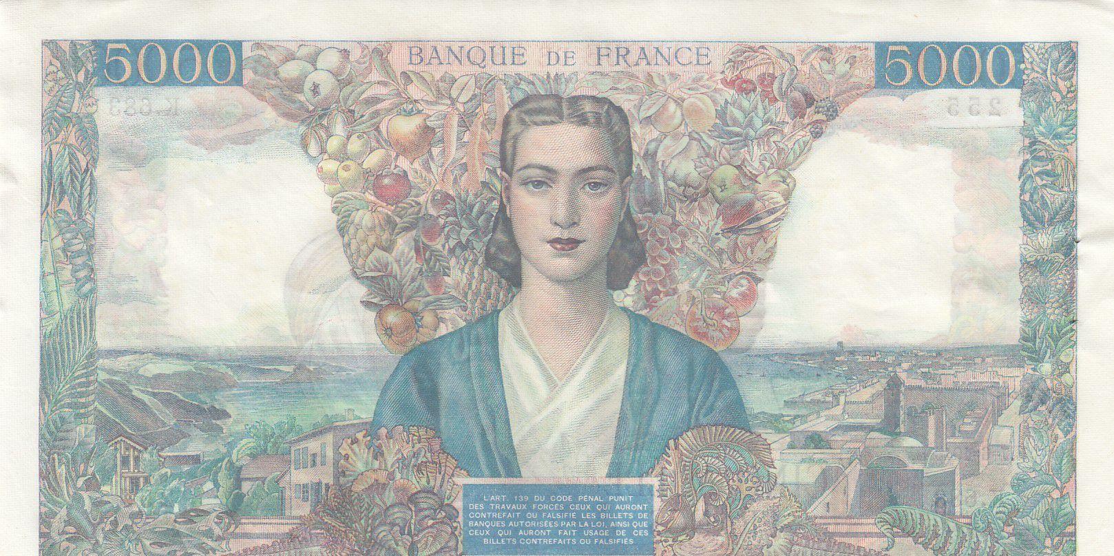 France 5000 Francs Empire Français - 07-06-1945 Série X.683 - SUP