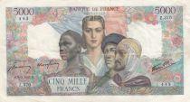 France 5000 Francs Empire Français - 08-03-1945 Série Z.370- TTB