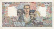 France 5000 Francs Empire Français - 09-01-1947 Série V.3133
