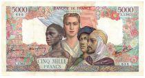 France 5000 Francs Empire Français - 10-10-1945 Série X.1562 - TTB