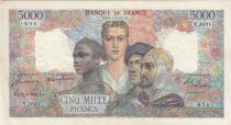 France 5000 Francs Empire Français - 12-06-1947 Série Y.3601