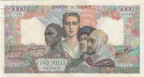 France 5000 Francs Empire Français - 13-09-1945 Série O.1143 - SUP