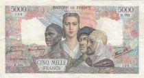 France 5000 Francs Empire Français - 15-03-1945 Série M.392 - TTB