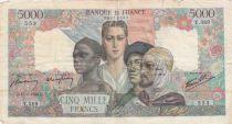 France 5000 Francs Empire Français - 15-03-1945 Série T.389 - TB