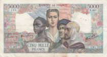 France 5000 Francs Empire Français - 15-03-1945 Série Y.387- TTB