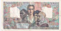 France 5000 Francs Empire Français - 17-05-1945 Série Q.610 - TTB