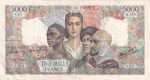 France 5000 Francs Empire Français - 19-04-1945 Série A.514 - TTB