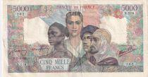 France 5000 Francs Empire Français - 19-04-1945 SérieN.516 - TB+