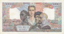 France 5000 Francs Empire Français - 20-03-1947 Série D.3353 - TTB