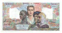 France 5000 Francs Empire Français - 20-03-1947 Série N.3441 - SUP