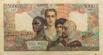 France 5000 Francs Empire Français - 23-08-1945 Série J.956 - TB