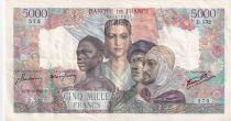 France 5000 Francs Empire Français - 26-04-1945 Série D.532 - TTB+