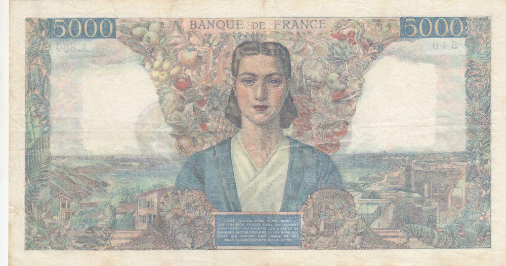France 5000 Francs Empire Français - 26-07-1945 Série A.860 - TTB