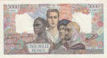 France 5000 Francs Empire Français - 27-09-1945 Série O.1382 - TTB