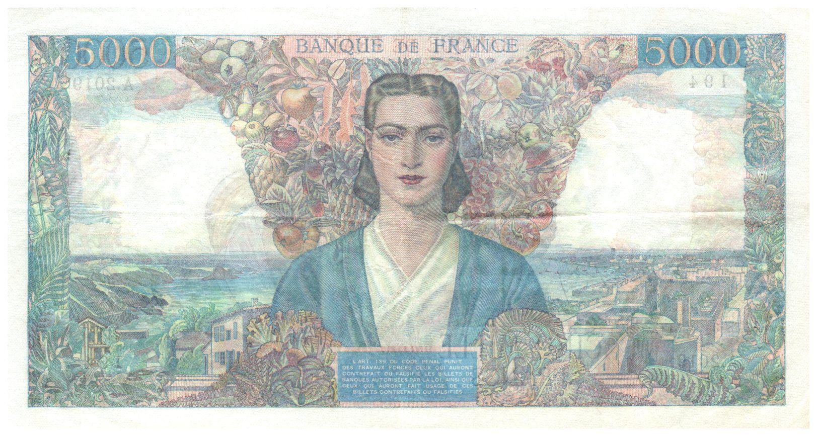 France 5000 Francs Empire Français - 28-03-1946 Série A.2019 - TTB+