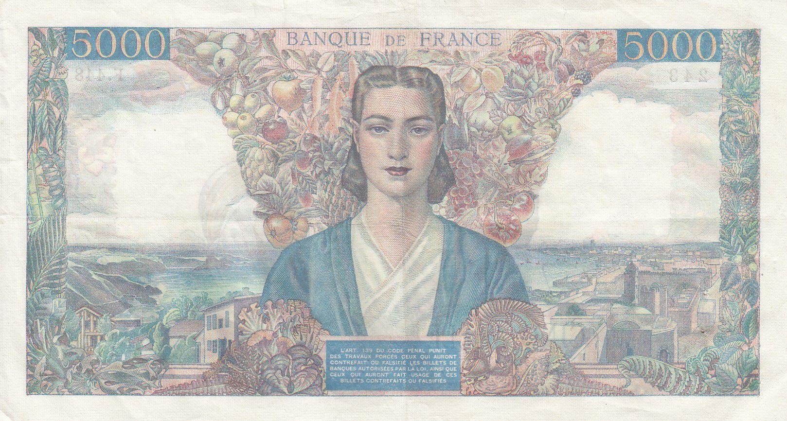 France 5000 Francs Empire Français - 29-03-1945 Série F.448 -TTB