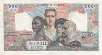 France 5000 Francs Empire Français - 29-03-1945 Série L.455 -TTB