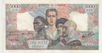 France 5000 Francs Empire Français - 29-03-1945 Série O.455 -TTB