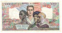 France 5000 Francs Empire Français - 30-08-1945 Série G.982 - TTB