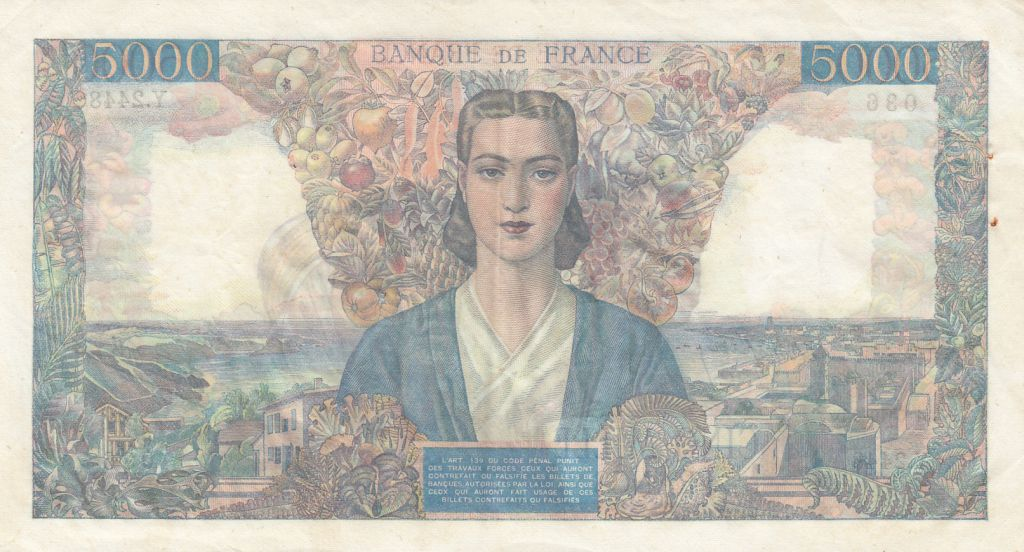 France 5000 Francs Empire Français - 31-05-1946 Série Y.2448-036