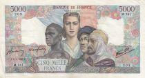 France 5000 Francs Empire Français 01-02-1945 Série M.261 - TTB