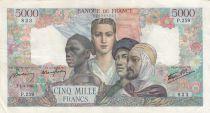 France 5000 Francs Empire Français 01-02-1945 Série P.259 - TTB