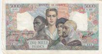 France 5000 Francs Empire Français 01-02-1945 Série Y.257 - TTB
