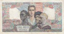 France 5000 Francs Empire Français 08-02-1945 Série L.270 - TB