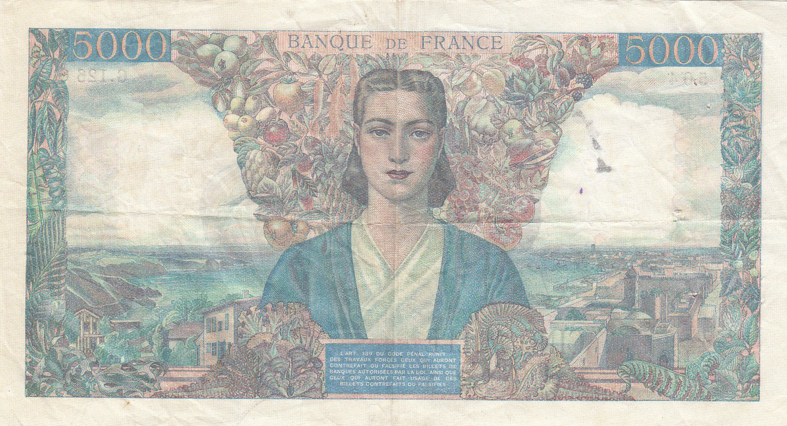 France 5000 Francs Empire Français 12-11-1942 Série G.126 - TTB