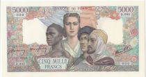 France 5000 Francs Empire Français 1942 - Epreuve Spécimen - Neuf