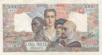 France 5000 Francs Empire Français 27-04-1944 Série G.148 - TTB