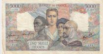 France 5000 Francs Empire Français 28-09-1944 Série F.180 - TB