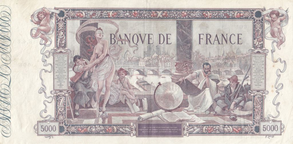 France 5000 Francs Flameng - 1918