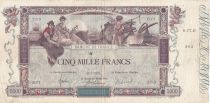 France 5000 Francs Flameng - 21-01-1918 - Serial D.17 - VF