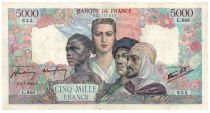 France 5000 Francs France and colonies - 02-08-1945 Serial C.886 - VF