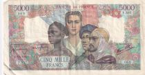France 5000 Francs France and colonies - 03-05-1945 Serial T.557 - ATTB