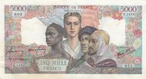 France 5000 Francs France and colonies - 04-10-1945 Serial C.1455 - XF
