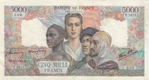 France 5000 Francs France and colonies - 06-09-1945 Serial T.1011 - XF