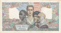 France 5000 Francs France and colonies - 09-07-1942 Serial U.56 - VF - P.103
