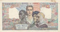 France 5000 Francs France and colonies - 09-07-1942 Serial U.60-223 - F