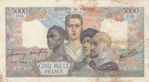 France 5000 Francs France and colonies - 09-07-1942 Serial U.60-224 - F