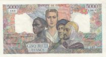 France 5000 Francs France and colonies - 12-06-1947 Serial U.3615 - XF to AU