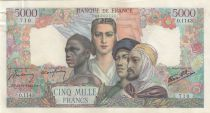 France 5000 Francs France and colonies - 13-09-1945 Serial O.1143 - XF