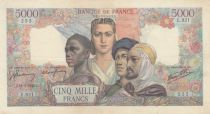 France 5000 Francs France and colonies - 16-08-1945 Serial E.921 - VF