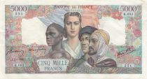 France 5000 Francs France and colonies - 16-08-1945 Serial X.683 - XF