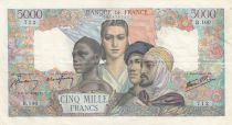 France 5000 Francs France and colonies - 1942 - VF