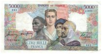 France 5000 Francs France and Colonies - 20-03-1947 Serial J.3255 - VF+