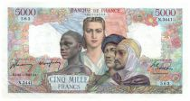 France 5000 Francs France and Colonies - 20-03-1947 Serial N.3441 - XF