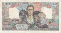 France 5000 Francs France and colonies - 22-02-1945 Serial Y.234- VF
